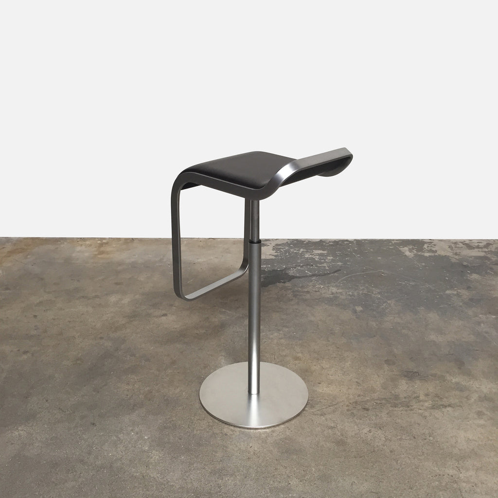 Brown Leather LEM Piston Stool (Set Of 3), Bar Stool - Modern Resale