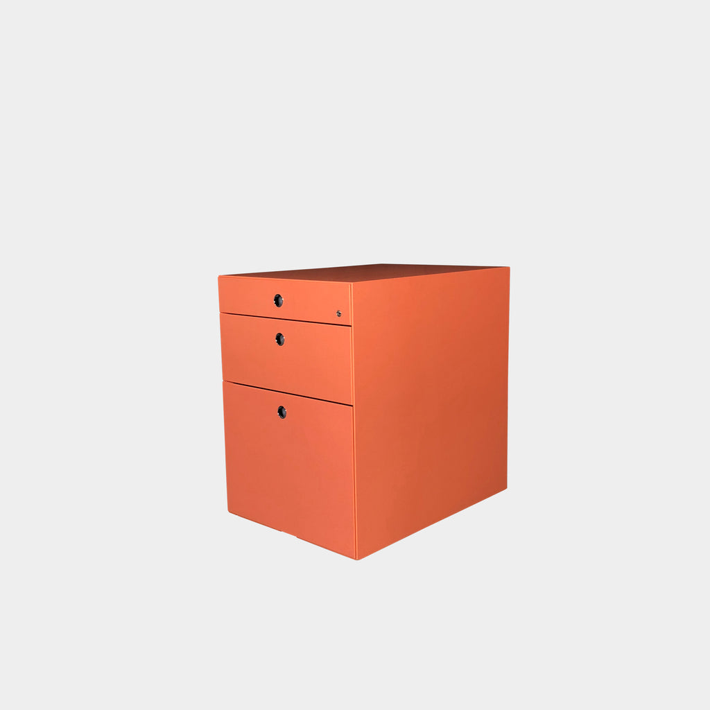 Vintage Coral 3-Drawer Filing Cabinet | Los Angeles Consignment