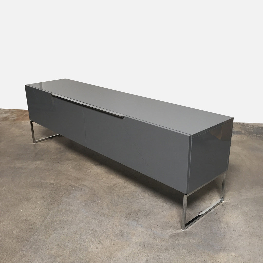B&B Italia Gray Glossy Lacquer Athos Console by Paolo Piva