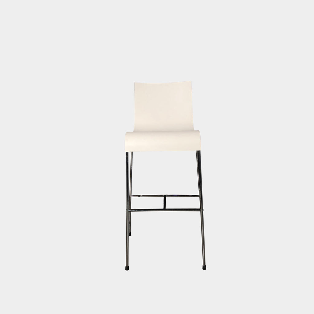White Curved Bar Stool - Modern Resale