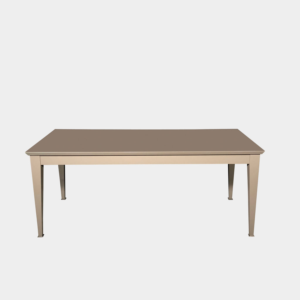 Promemoria Taupe Lacquer Dining Table | LA | Consignment Like New