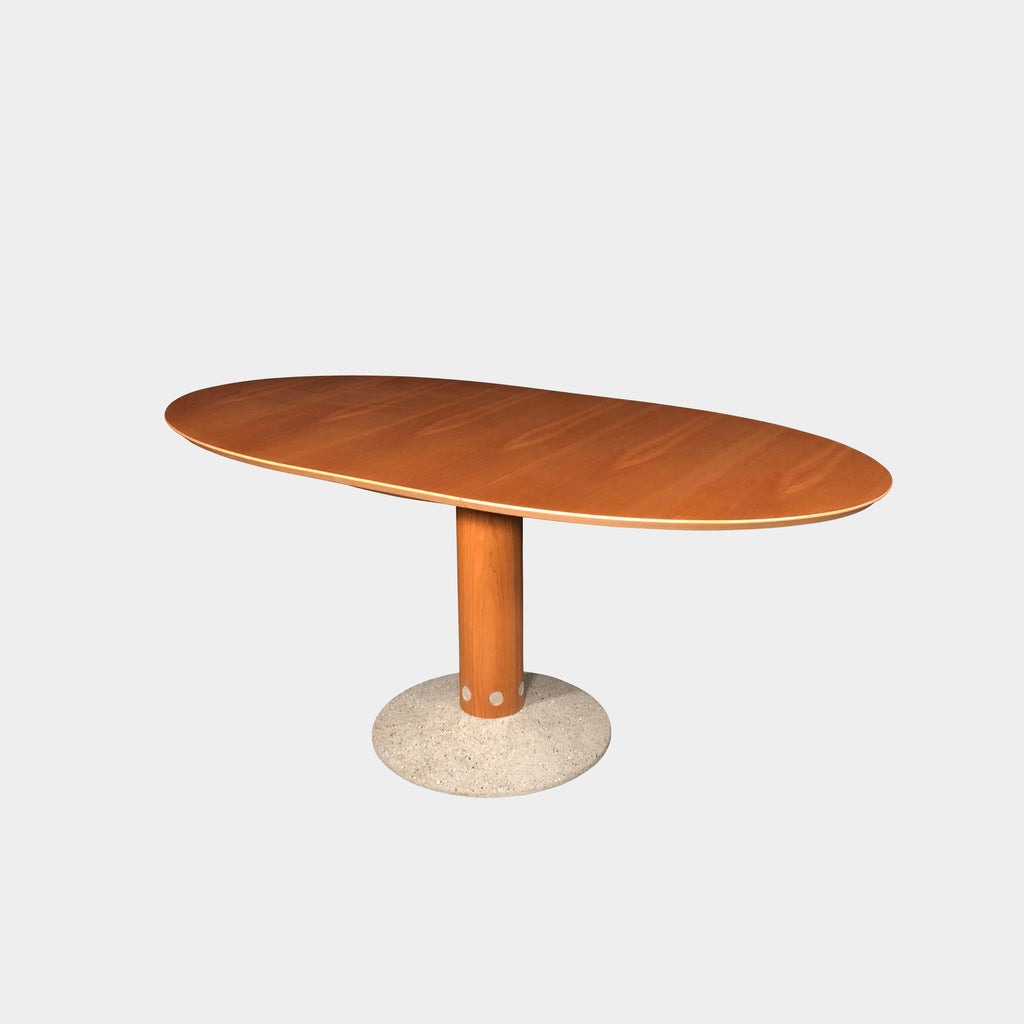 Arco Wood and Concrete Balance Dining Table | LA | Consignment