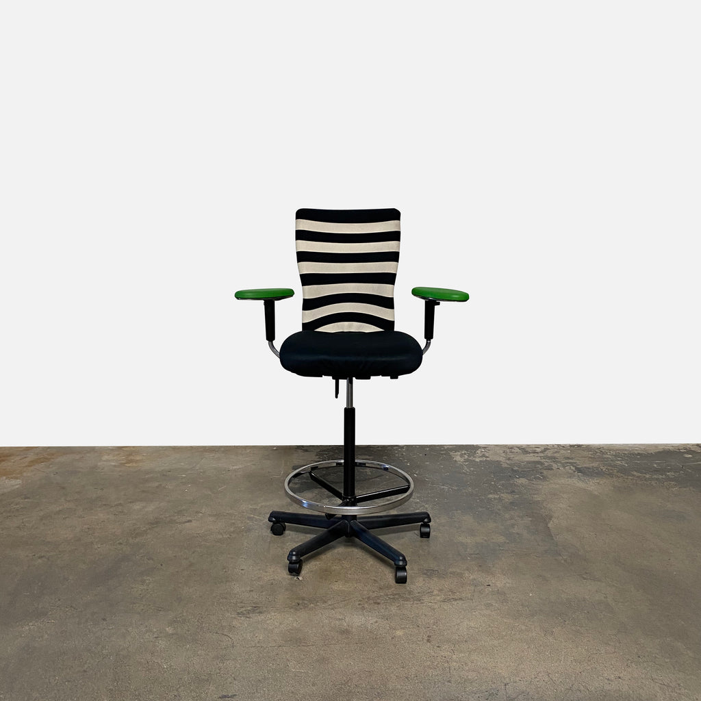 T Chair Striped Desk Chair, Office Chair - Modern Resale