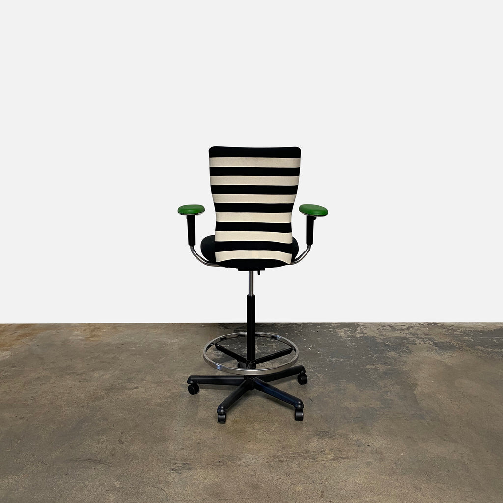 T Chair Striped Desk Chairs (3 Available) - Modern Resale