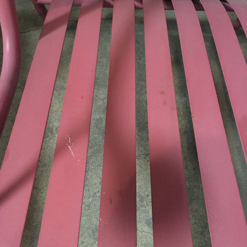 Vintage Cappellini Thinking Mans Chair Pink Metal by Jasper Morrison