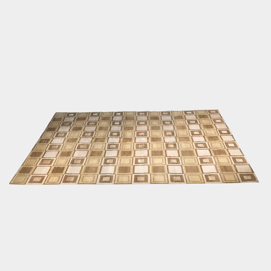 Square Tile Brown Rug