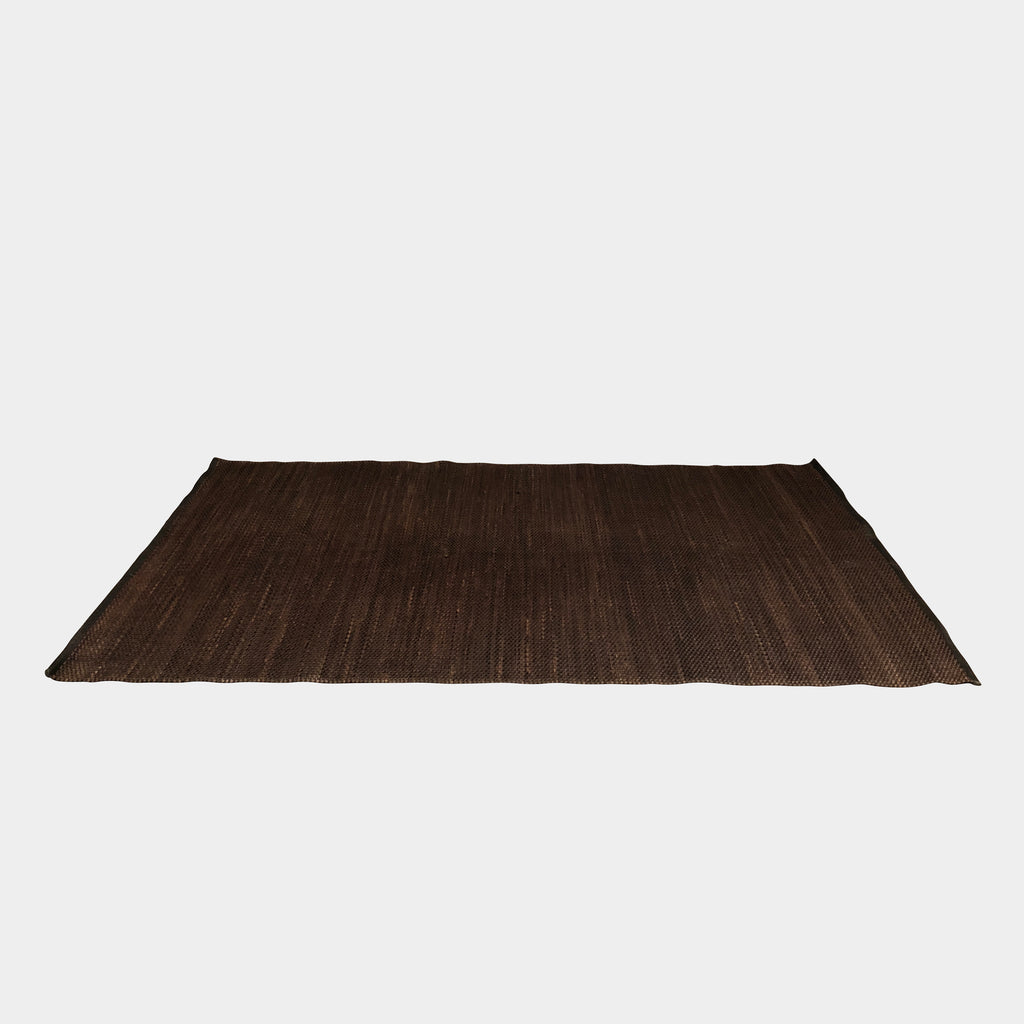 Brown Leather Woven Area Rug