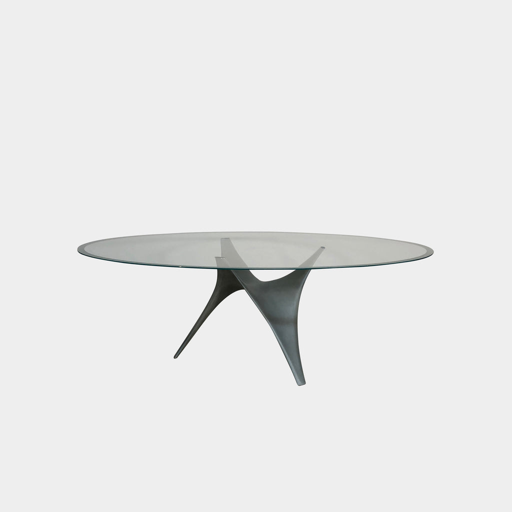 Molteni & Co Glass Arc Dining Table by Foster + Partners