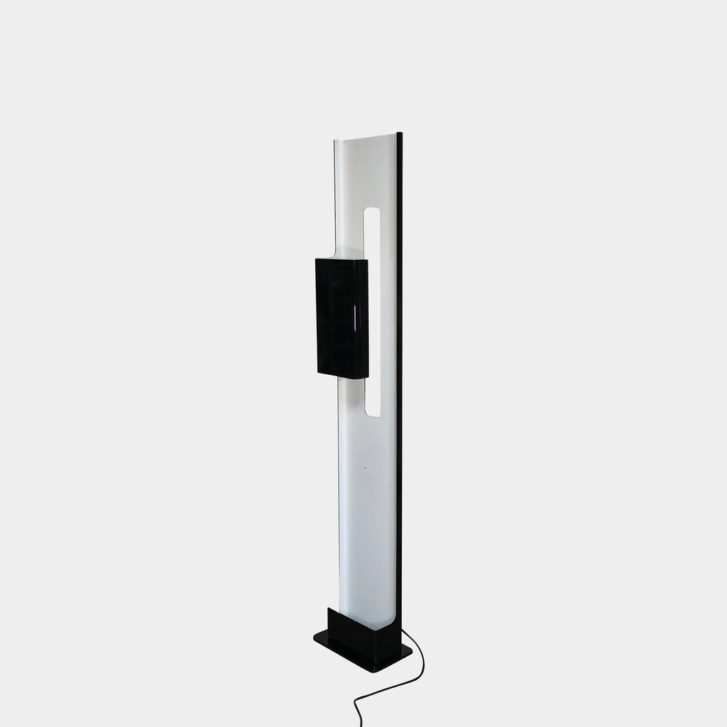 Foscarini Black and White Aretha Floor Lamp by Ferruccio Laviani