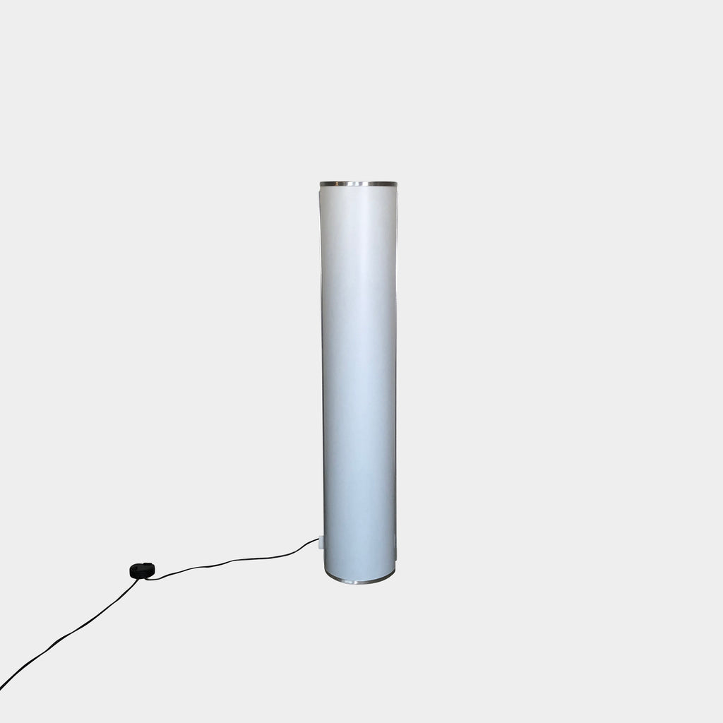 Tall White Cylinder Floor Lamp Italian Design