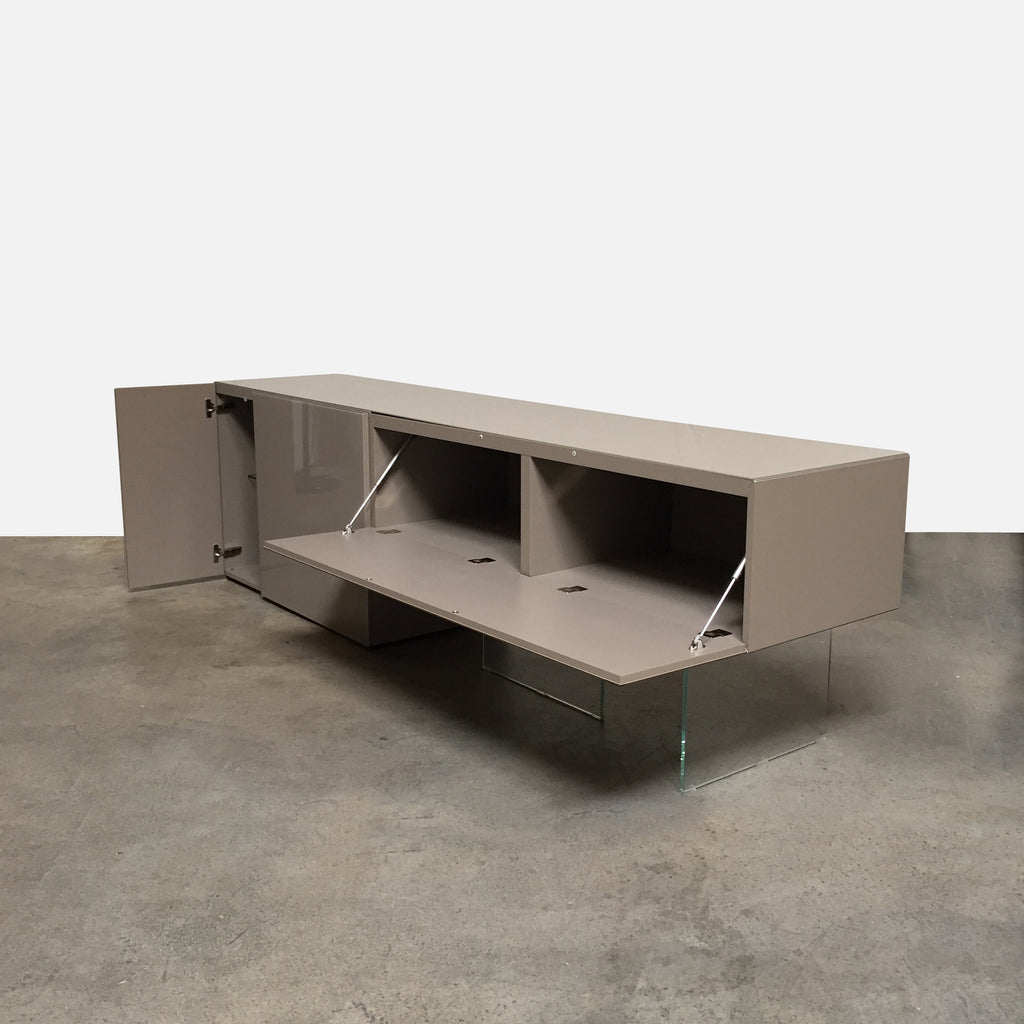 "Lago ""Air"" Sideboard by Daniele side view with open cabinets"