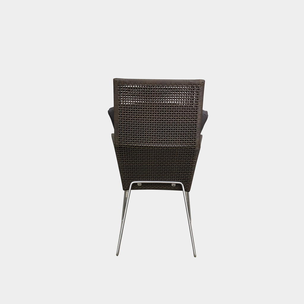 Brown Woven Outdoor Chair, Outdoor Chair - Modern Resale