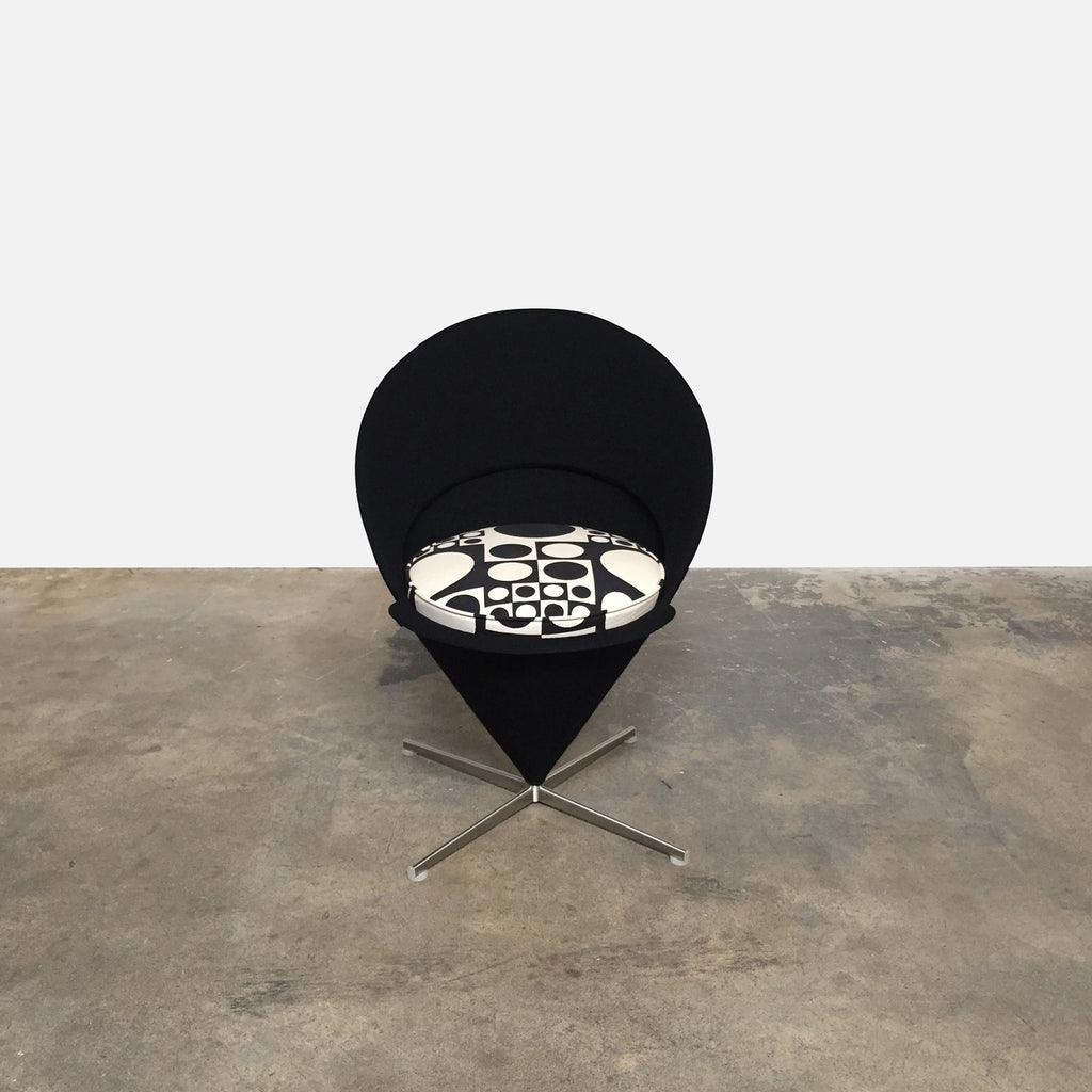 Vitra Cone Chair by Verner Panton with Panton fabric seat