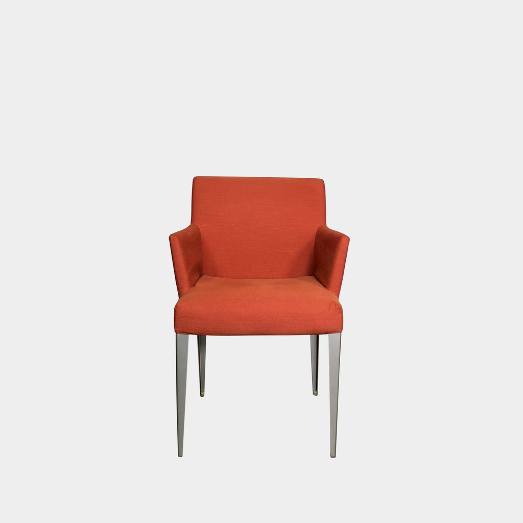 B&B Italia Reddish Orange Fabric Melandra Armchair by Antonio Citterio