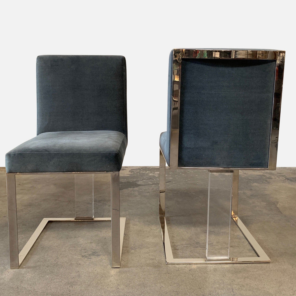 J Alexander 'Soho' Dining Chairs Back and Front View - Luxury Seating Los Angeles