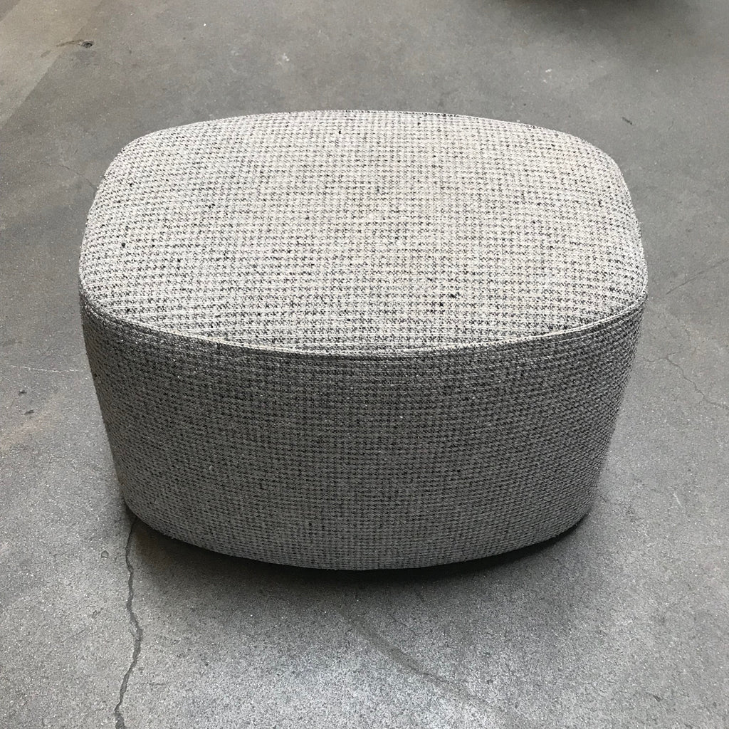 B&B Italia Neutral Organic Textured Fabric Frank Ottoman by Citterio
