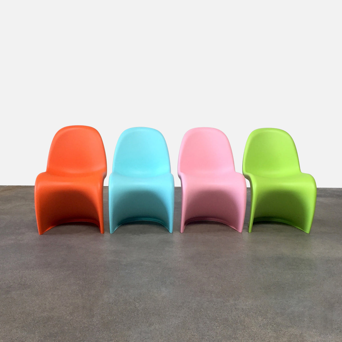 Vitra Panton Junior Multi-Color Dining Chairs Kids' Size Panton Chairs