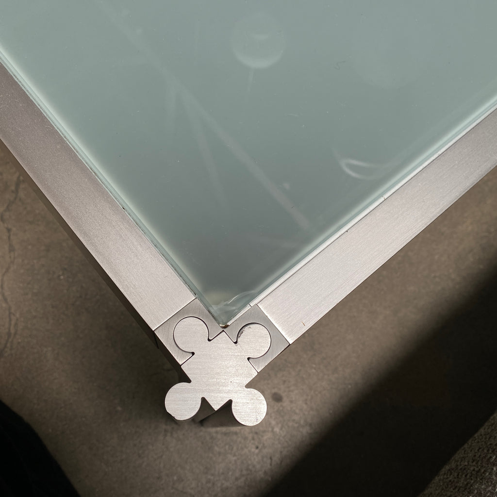 Frosted Glass Coffee Table, Coffee Table - Modern Resale