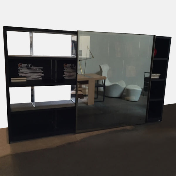 Mida Bookcase with Sliding Door