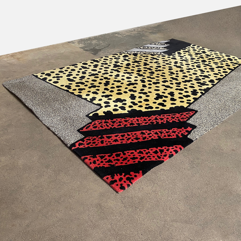 Vintage Ettore Sottsass Rug Hand Tufted Wool | Los Angeles Consignment
