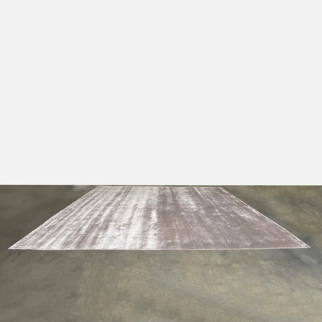 Custom Viscose Light Pinkish Gray Rug, Rug - Modern Resale