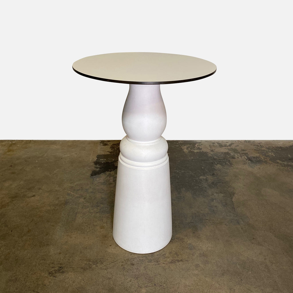 White Moooi bar height container table