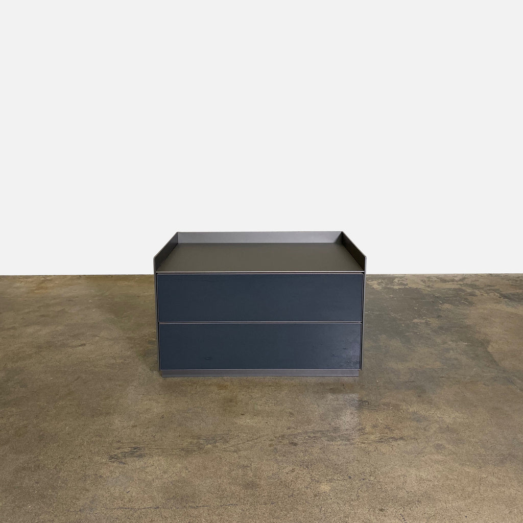Rimadesio Self Bold Nightstands by Giuseppe Bavuso. Gray and Bronze Front View |  Los Angeles