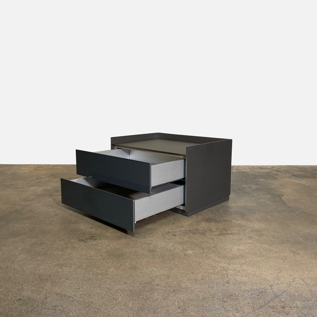Rimadesio Self Bold Nightstands by Giuseppe Bavuso. Gray and Bronze.  Los Angeles