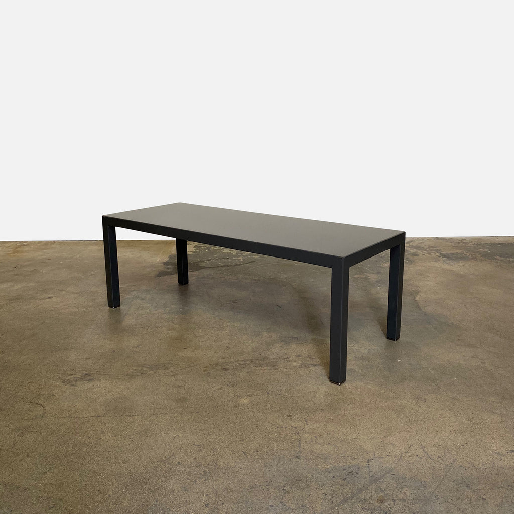 Minotti Lacquer Bench. glossy gray lacquer
