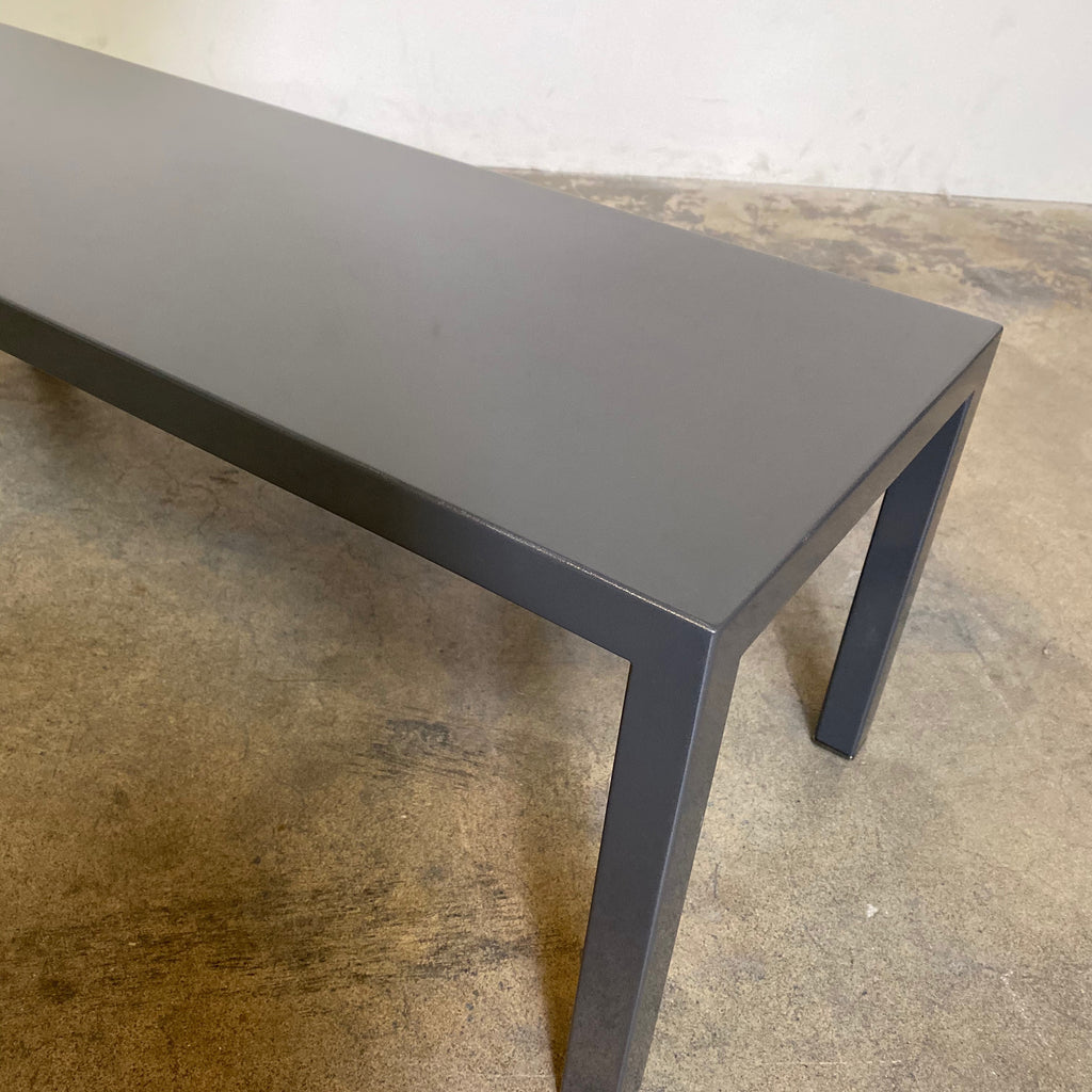 Minotti Bench - Detail Shot - High Gloss Lacquer - Gray