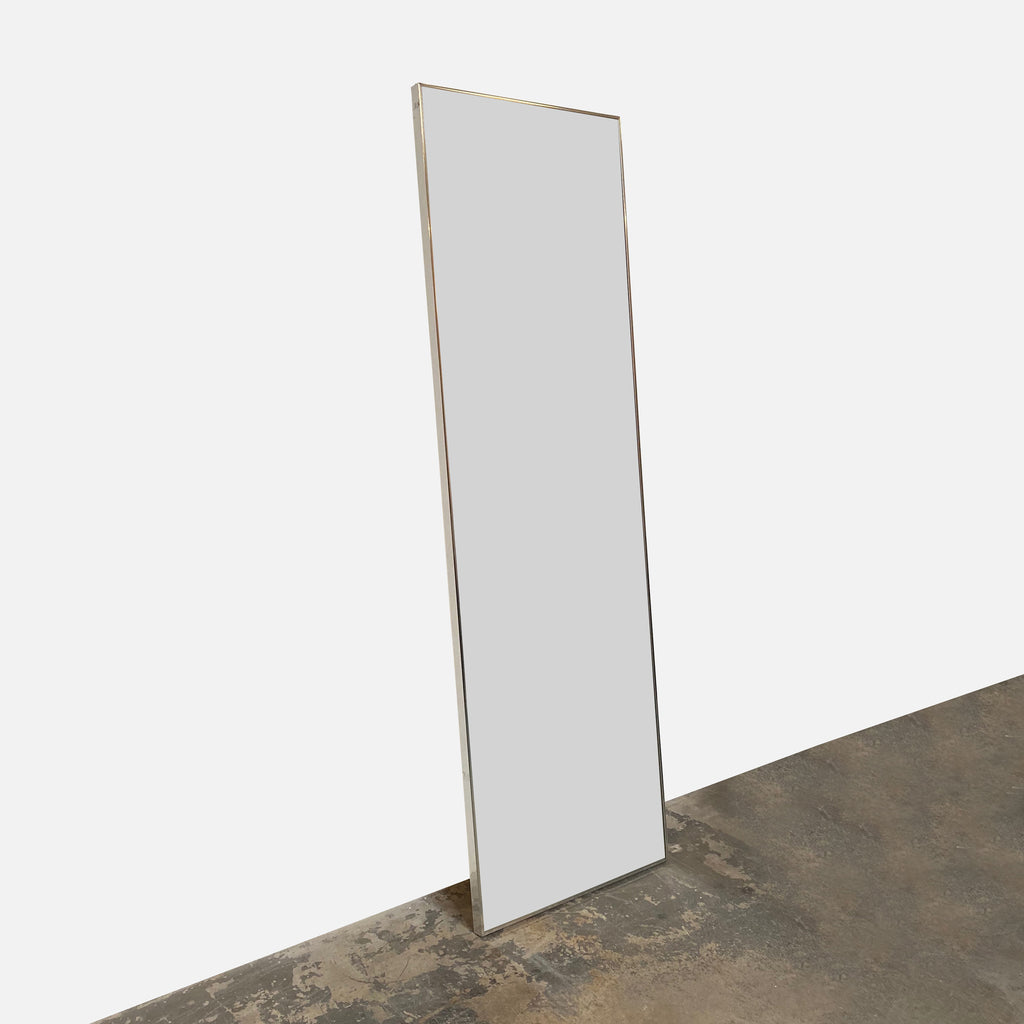 Chrome Frame Mirror Rectangle Leaning Wall Mirror | Los Angeles  - Modern Resale - Los Angeles