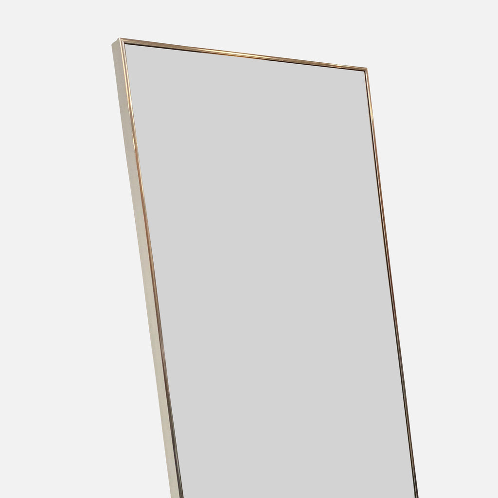 Detail Tall Mirror With Chrome Frame - Modern Resale - Los Angeles