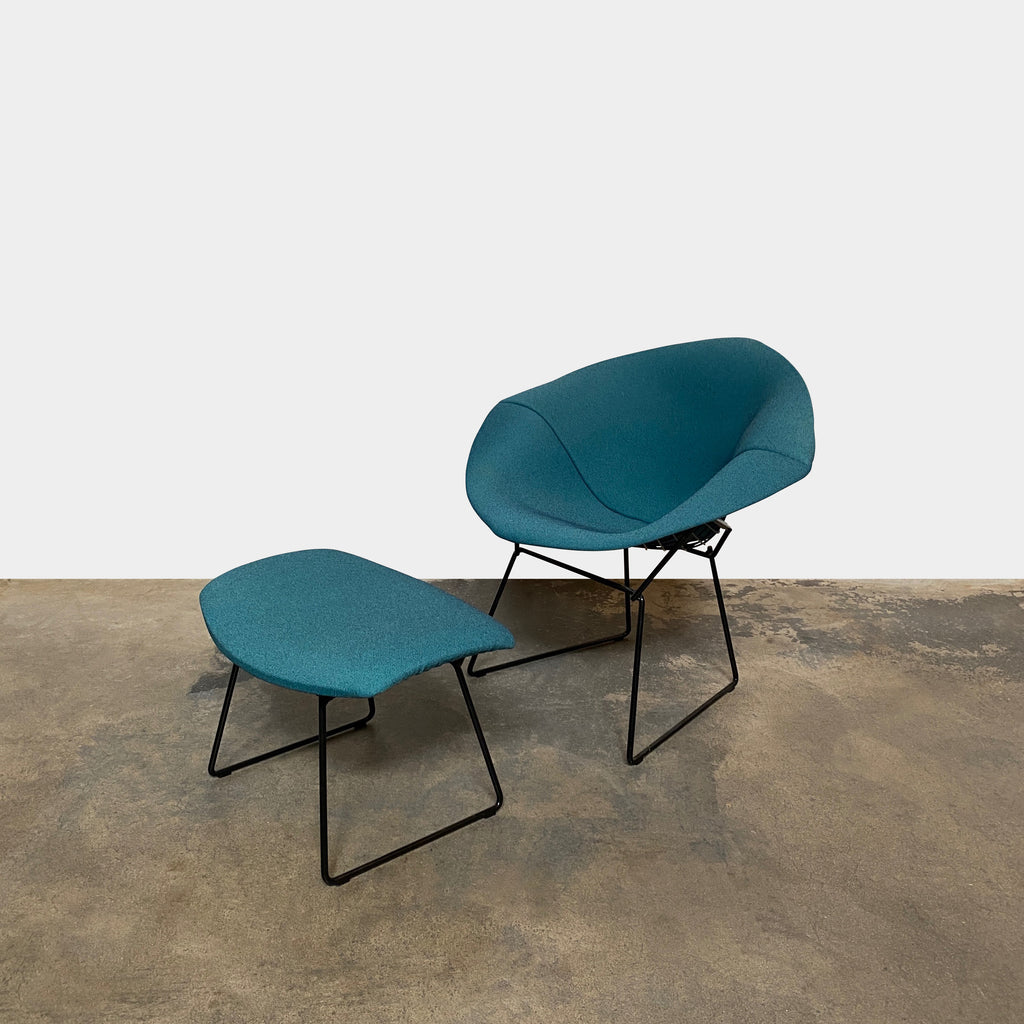 Bertoia Diamond Lounge Chair & Ottoman, Lounge Chair - Modern Resale