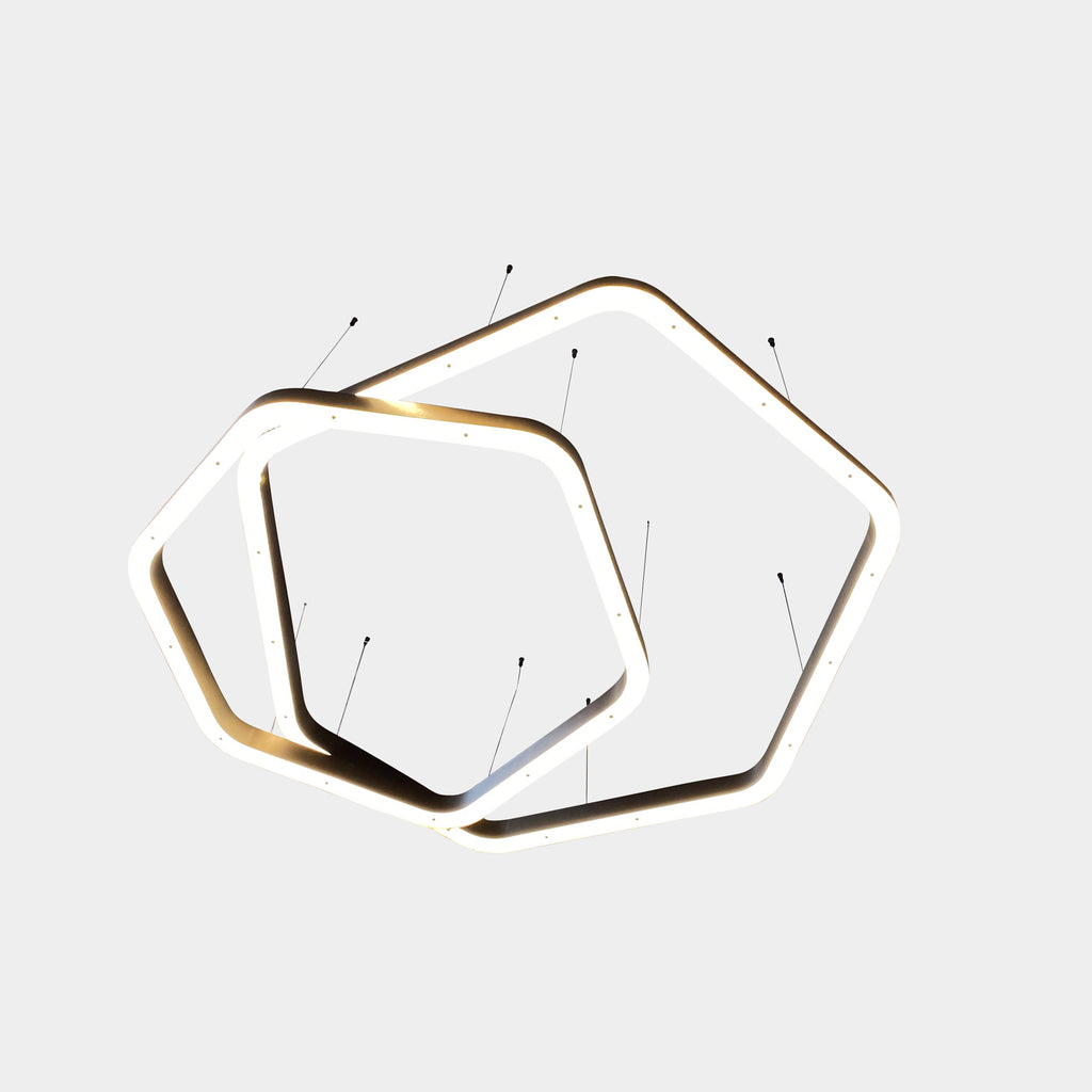 Light Ring Polygonal Suspension Light, Ceiling Light - Modern Resale