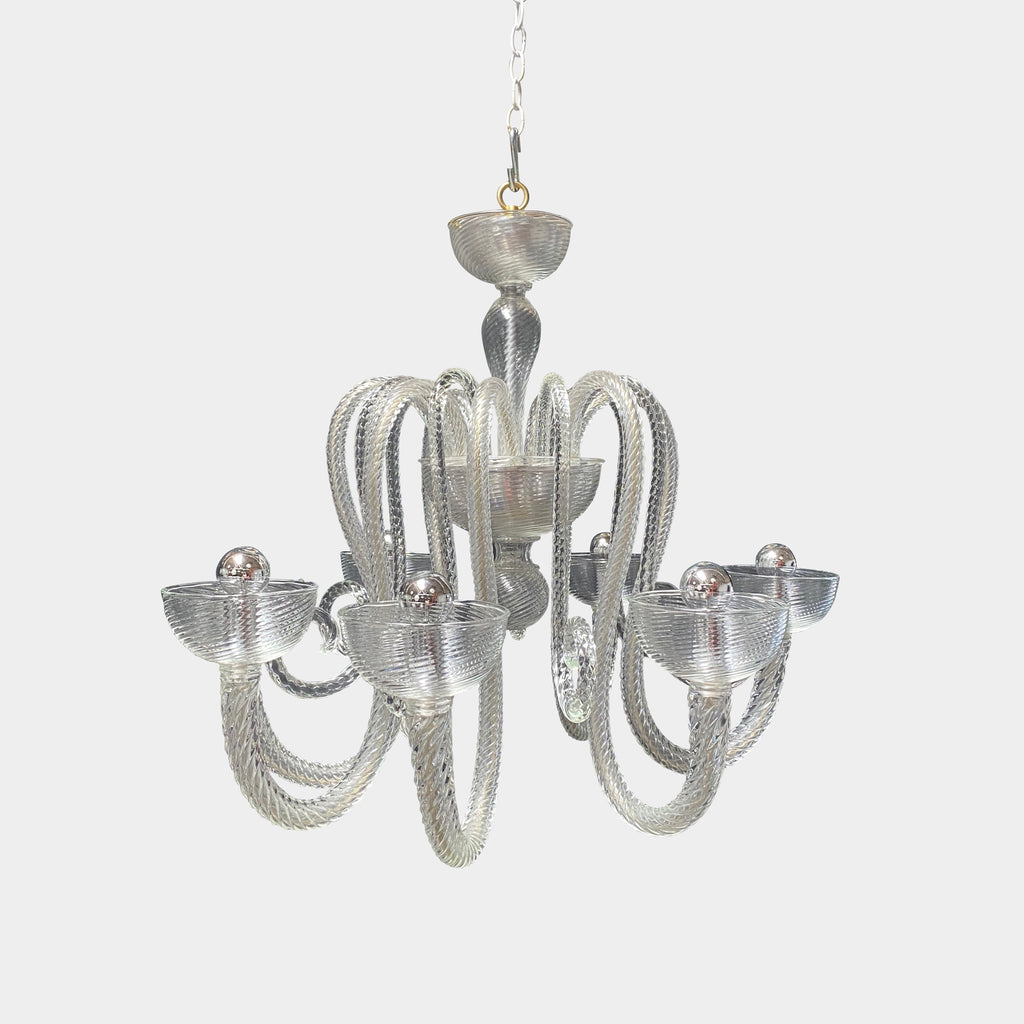 Italian Art Deco Murano Glass Chandelier, Ceiling Light - Modern Resale
