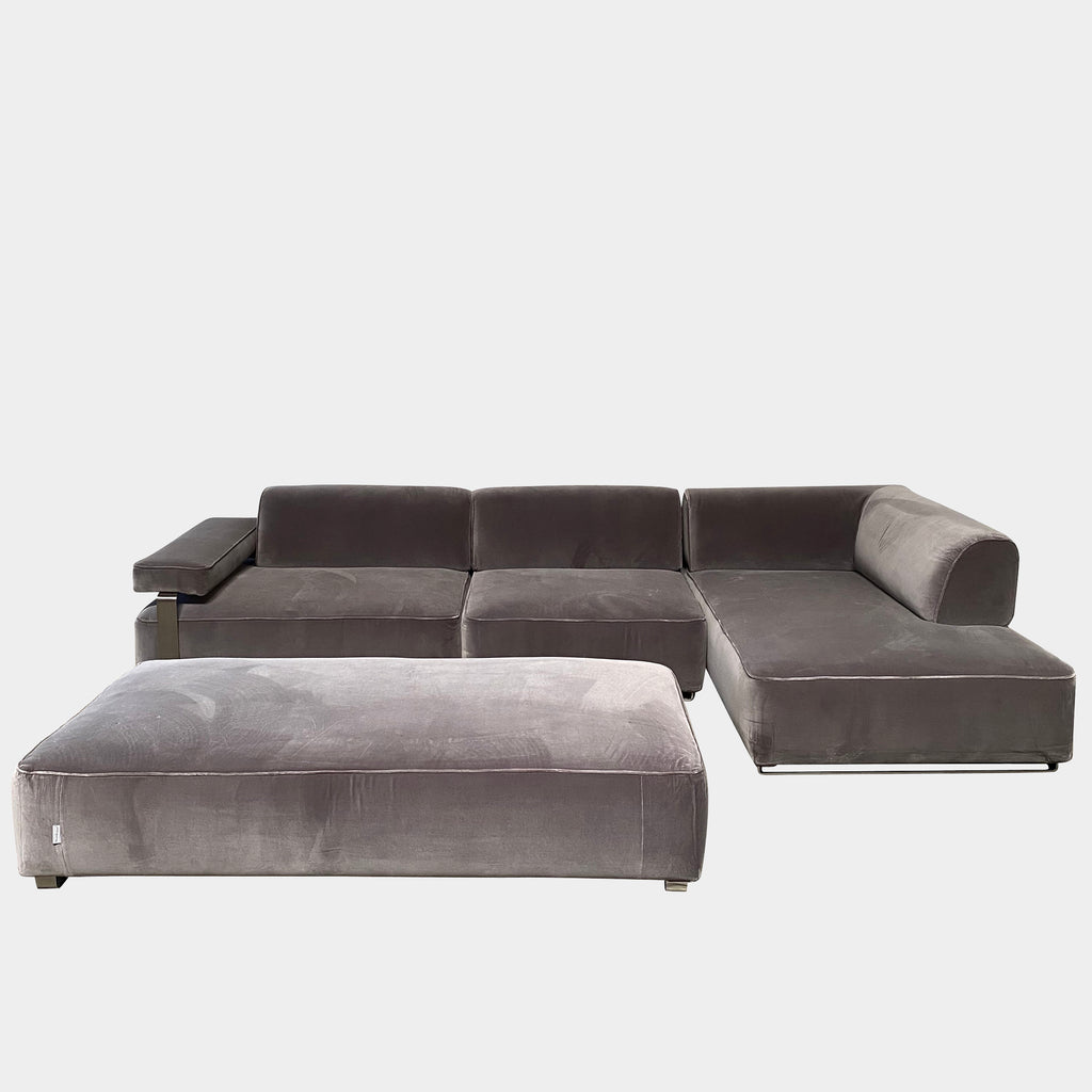 Cannes Right-Chaise Sectional + Ottoman - Modern Resale