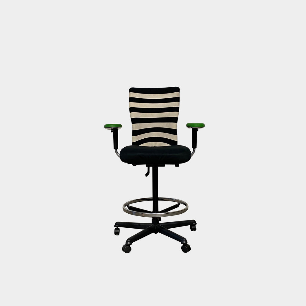 T Chair Striped Adjustable Height Stool, Office Chair - Modern Resale