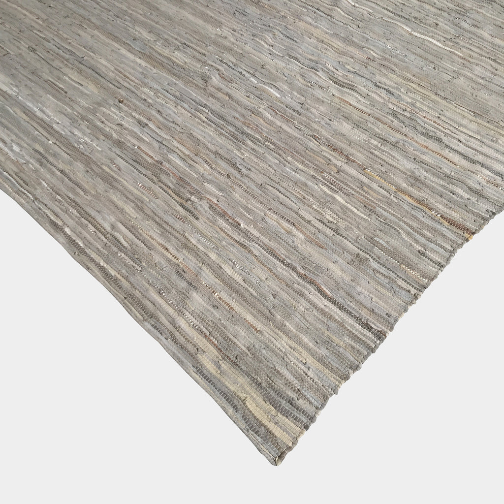 Woven Leather Rug, Rug - Modern Resale