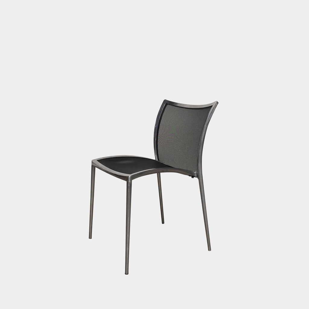 Zanotta Black Mesh Zilli Outdoor Chairs by Roberto Barbieri