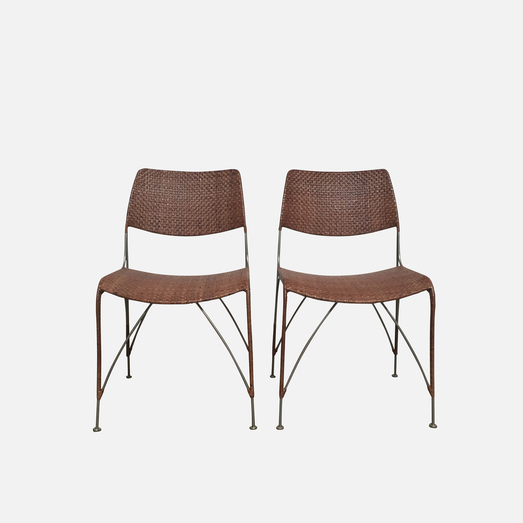 Rattan Dining Chairs (Set of 2)
