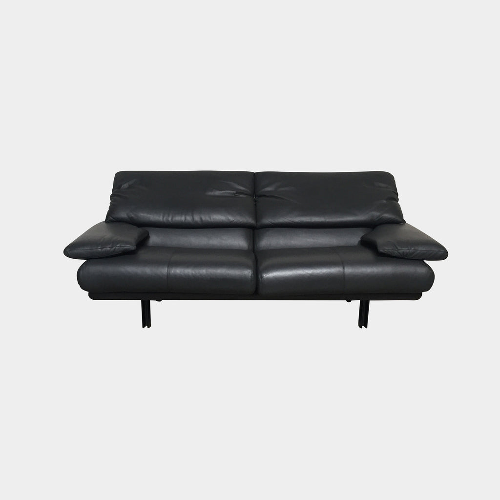 B&B Italia Sofa Black Leather Alanda Sofa by Paolo Piva | Consignment