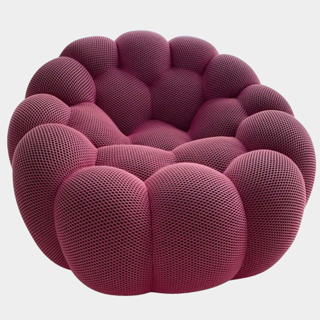 Roche Bobois Pink 'Bubble' Swivel Chair by Sacha Lakic