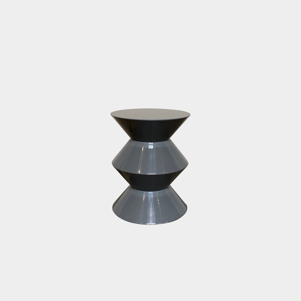 Minotti 'Cesar' Side Table by Rodolfo Dordoni - Gray Lacquer side table