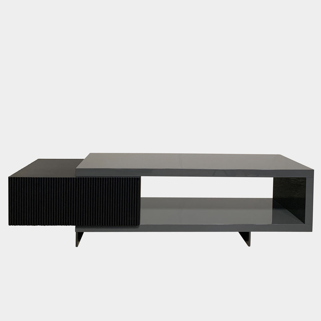 Minotti 'Aylon' Living Sideboard by Rodolfo Dordoni - Luxury Console - black wood and Gray Lacquer finishes