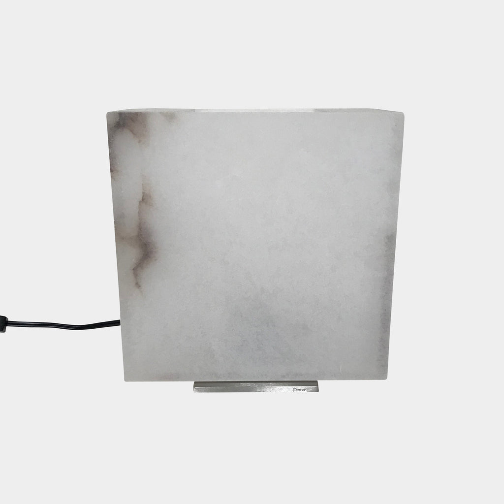 Alabaster Cube Table Lamp