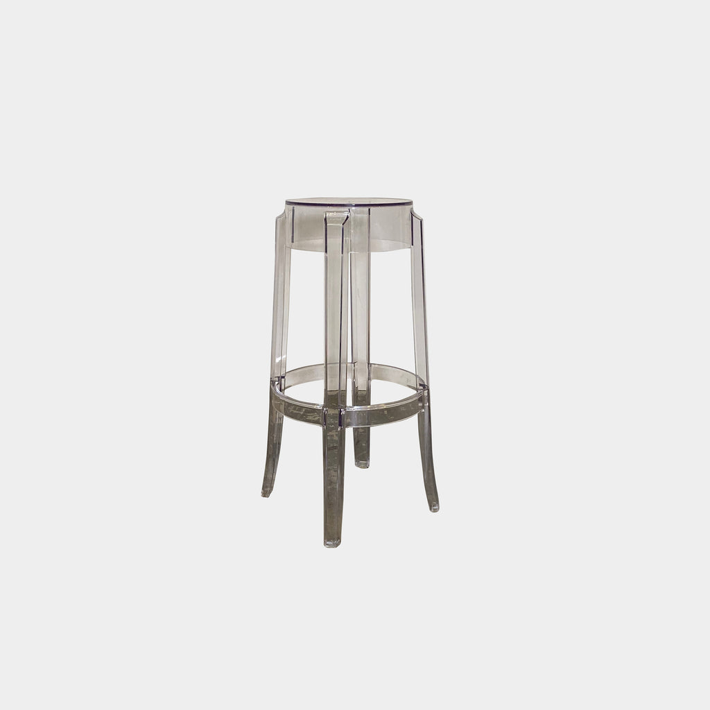 Kartell 'Charles Ghost' Bar Stools by Philippe Starck, (2005) - poly carbonate seating. los angeles consignment