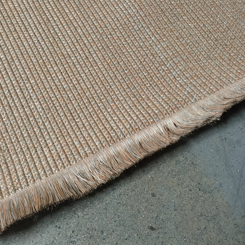 Poolside Peach Fringe Outdoor Rug