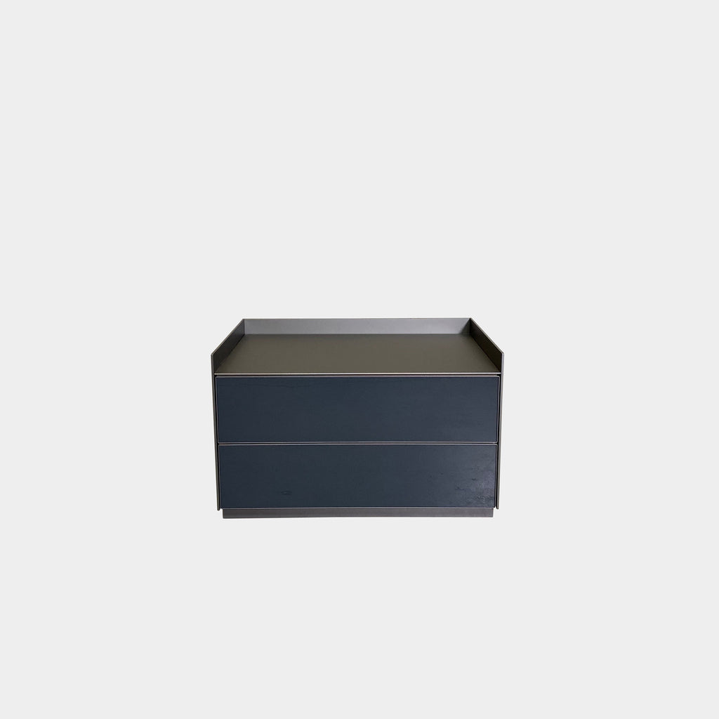 Rimadesio Self Bold Nightstands by Giuseppe Bavuso. Gray and Bronze Los Angeles | Consignment