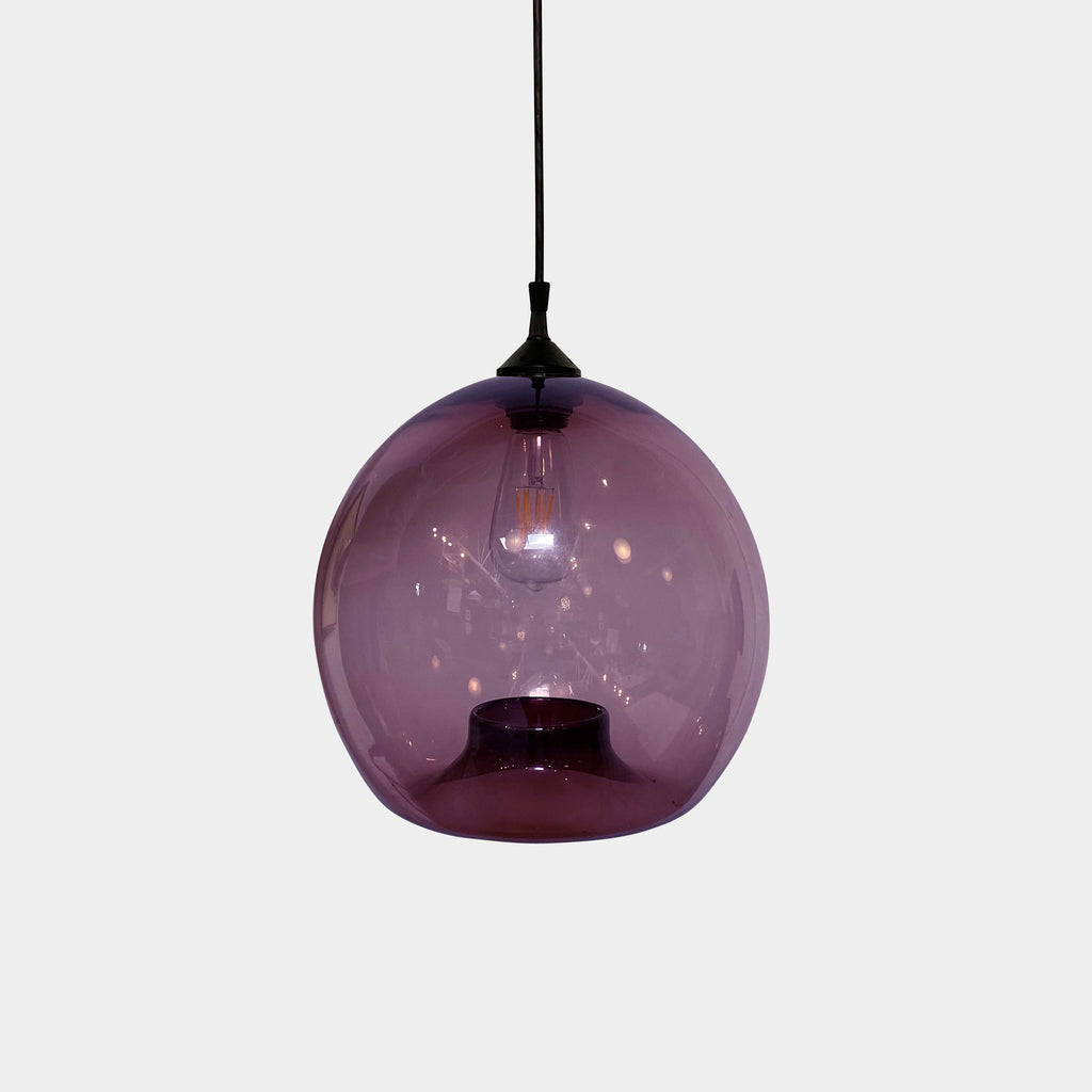 Niche 'Stamen' Pendant Light by Jeremy Pyles - Plum colored - Hand blown glass pendant light - Los Angles