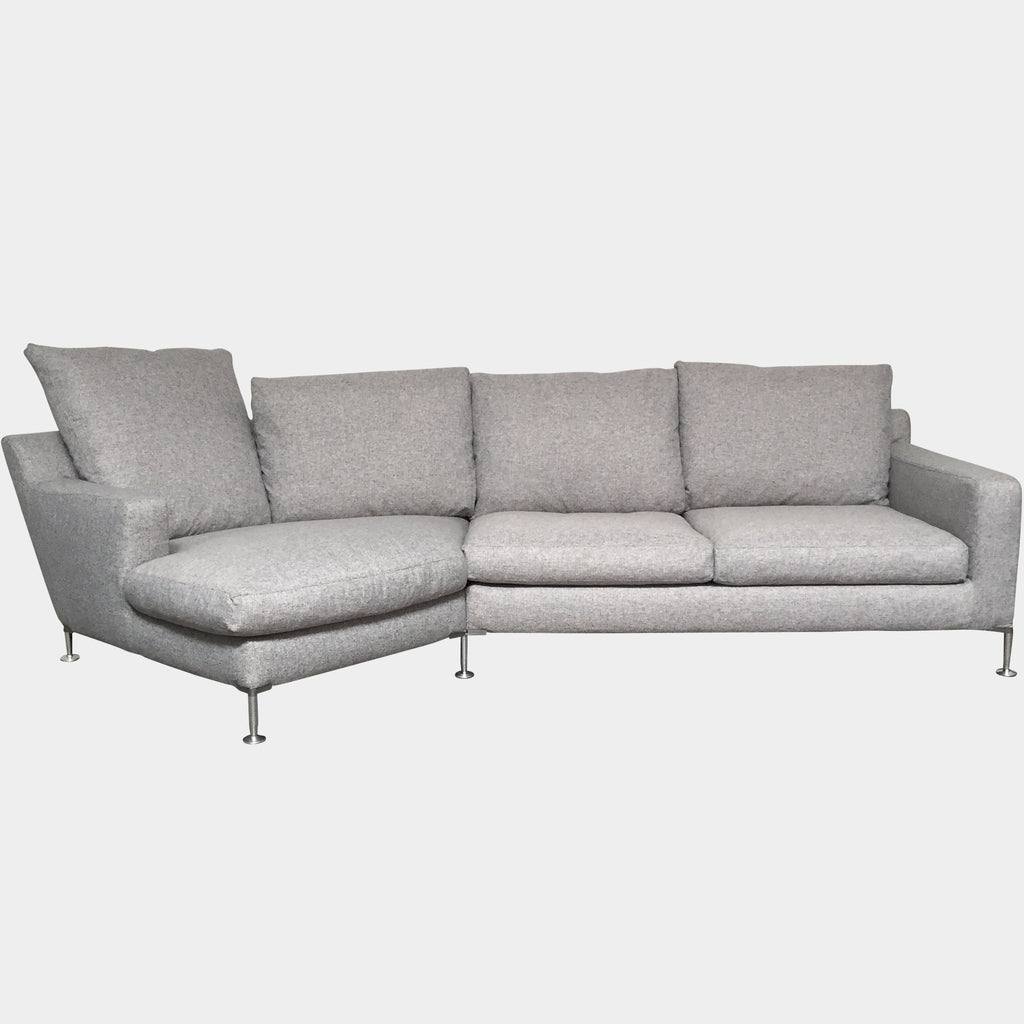 B&B Italia White Fabric Corner Harry Sofa Sectional | LA | Consignment